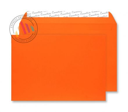 C5 - Orange Velvet Envelopes - 140gsm - Non Window - Peel & Seal