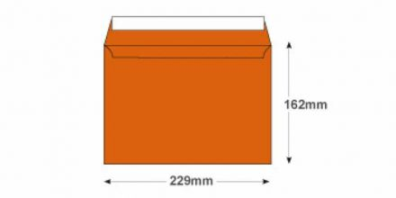 C5 - Orange Velvet Envelopes - 140gsm - Non Window - Peel & Seal - image 2