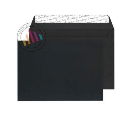 C5 - Black Velvet Envelopes - 140gsm - Non Window - Peel & Seal