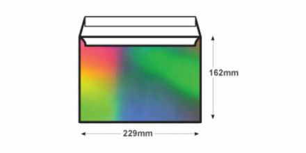C5 - Shimmering Rainbow Envelopes - 140gsm - Non Window - Peel & Seal - image 2