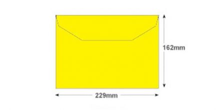 C5+ - Banana Yellow Envelopes - 120gsm - Non Window - Gummed - image 2
