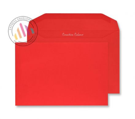C5+ - Pillar Box Red Envelopes - 120gsm - Non Window - Gummed