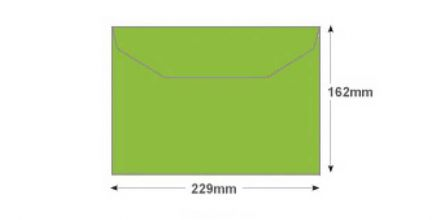 C5+ - Lime Green Envelopes - 120gsm - Non Window - Gummed - image 2
