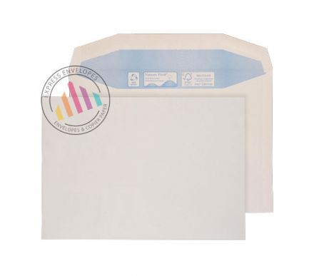 Recycled C5+ - White Mailing Envelopes -90gsm - Non Window - Gummed