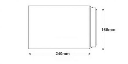 240x165mm - White All Board Envelopes - 350gsm - Peel and Seal - image 2