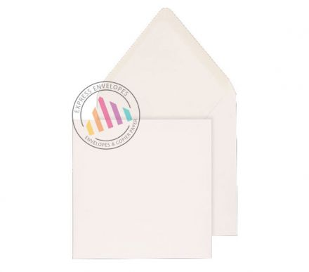 165x165mm - White Invitation Envelopes - 100gsm - Non Window - Gummed