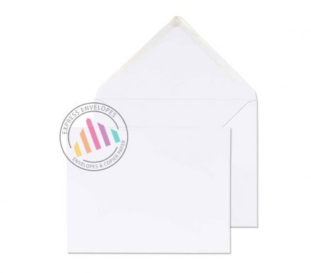 184mm x 235mm - White Invitation Envelopes - 100gsm - Non Window - Gummed