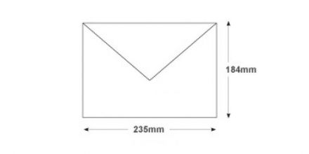 184x235mm - White Invitation Envelopes - 100gsm - Non Window - Gummed - image 2
