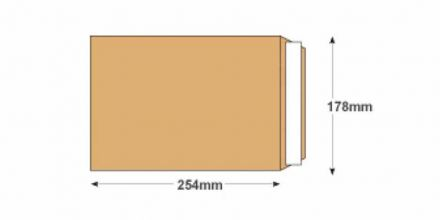 254mm x 178mm - Manilla Commercial Envelopes - 115gsm - Non Window - Peel & Seal - image 2
