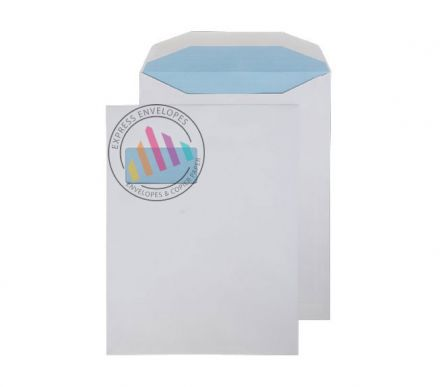 310 x 238mm - White Mailing Envelopes - 100gsm - Window - Gummed