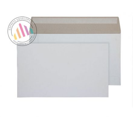 175mm x 305mm - White All Board Envelopes - 350gsm - Peel and Seal