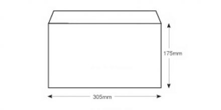 175mm x 305mm - White All Board Envelopes - 350gsm - Peel and Seal  - image 2