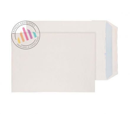 Recycled C4 -  White Envelopes - 100gsm - Non Window - Self Seal