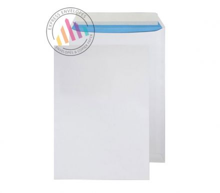 C4 - White Superior Envelopes - 110gsm - Non Window - Peel & Seal