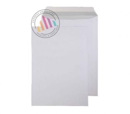 C4 - Bright White Commercial Envelopes - 120gsm - Non Window - Peel & Seal