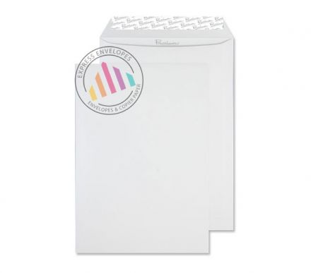 C4 - High White Wove Envelopes - 120gsm - Non Window - Peel & Seal