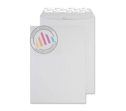 C4 - Smooth Diamond White Envelopes - 135gsm - Non Window - Peel & Seal
