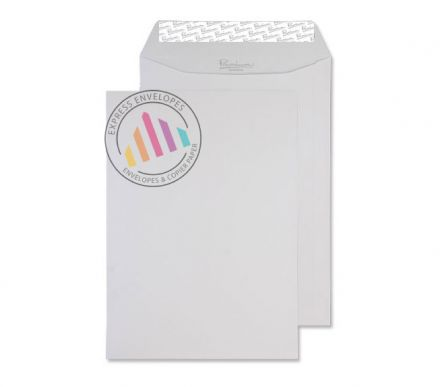 C4 - Diamond White Laid Envelopes - 120gsm - Non Window - Peel & Seal
