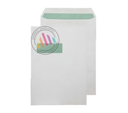Recycled C4 - Natural White Envelopes - 90gsm - Window - Self Seal