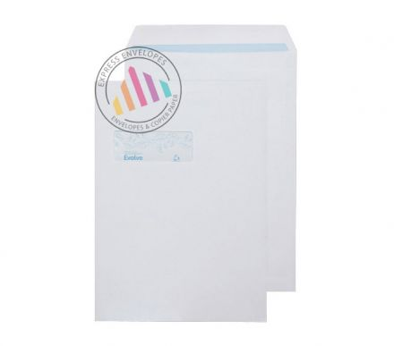 Recycled C4 - White Commercial Envelopes - 100gsm - Window - Self Seal