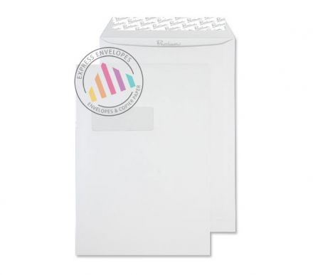 C4 - High White Wove Envelopes - 120gsm - Window - Peel & Seal