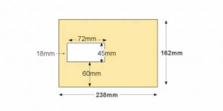 C4 - Cream Mailing  Envelopes - 100gsm - Non Window - Gummed - image 2