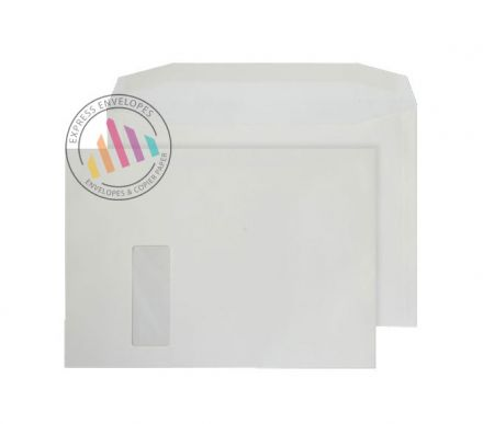 C4 - Cream Mailing  Envelopes - 100gsm - Window - Gummed
