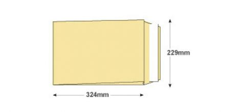 C4 - Cream Wove Gusset Envelopes - 140gsm - Non Window - Peel & Seal - image 2