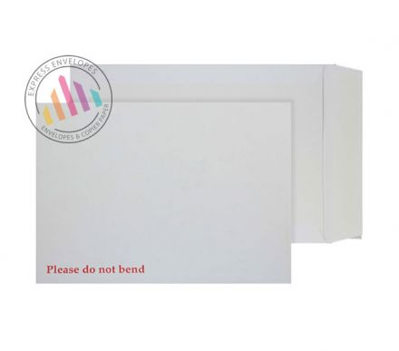 C4 - White Board Back - 120gsm - Non Window - Peel and Seal