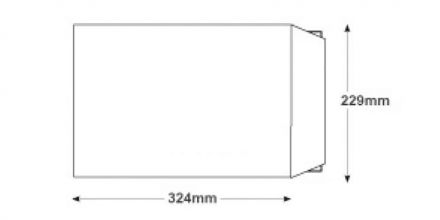 C4 - White Board Back Envelopes - 120gsm - Non Window - Peel and Seal - image 2