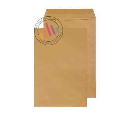 406 x 305mm - Manilla Commercial  Envelopes - 115gsm - Non Window - Gummed