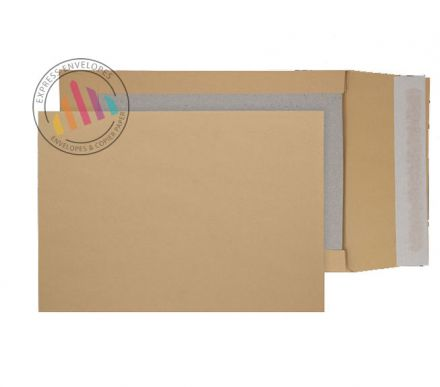 C4 - Manilla Board Backed Gusset Envelopes - 120gsm - Non Window - Peel & Seal