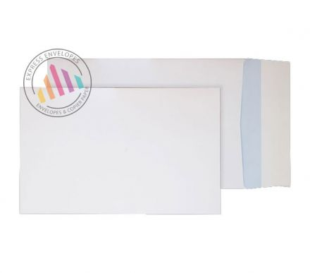 C4 - White Board Back Gusset Envelopes - 120gsm - Non Window - Peel & Seal