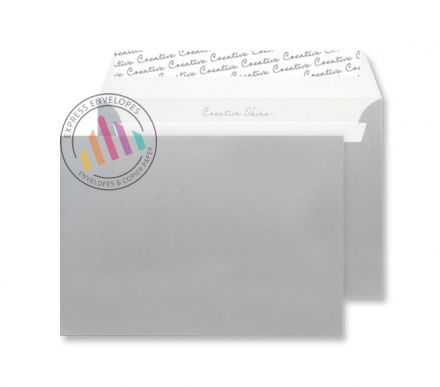 C4 - Metallic Silver Envelopes - 130gsm - Non Window - Peel & Seal