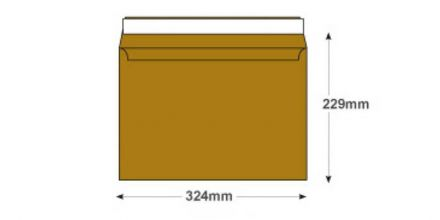 C4 - Metallic Gold Envelopes - 130gsm - Non Window - Peel & Seal - image 2
