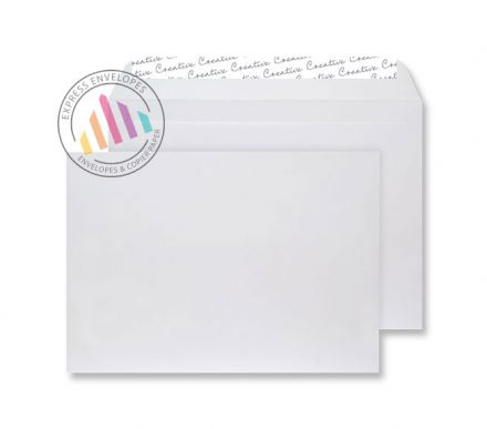 C4 - White Velvet Envelopes - 140gsm - Non Window - Peel & Seal