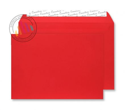 C4 - Red Velvet Envelopes - 140gsm - Non Window - Peel & Seal