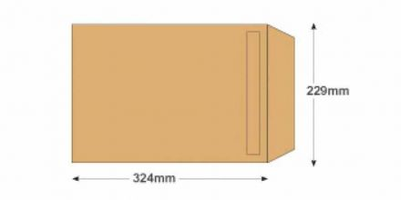C4 - Manilla Commercial Envelopes - 90gsm - Non Window - Self Seal - image 2