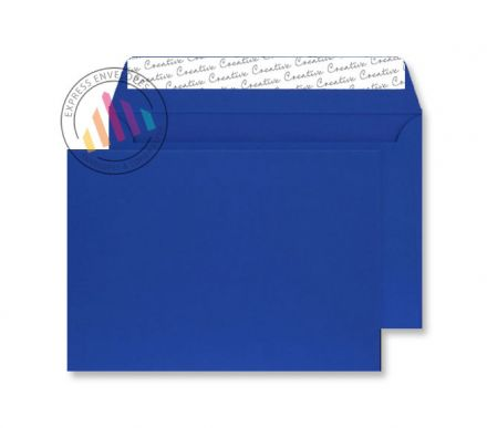 C4 - Blue Envelopes - 140gsm - Non Window - Peel & Seal