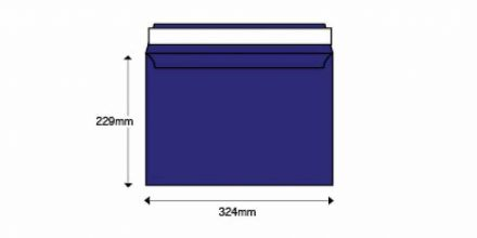 C4 - Blue Envelopes - 140gsm - Non Window - Peel & Seal - image 2