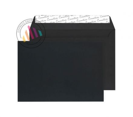 C4 - Black Velvet Envelopes - 140gsm - Non Window - Peel & Seal