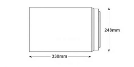 330mm x 248mm - White All Board Envelopes - 350gsm - Peel and Seal - image 2