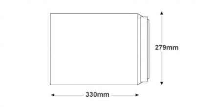330 x 279mm - White Commercial Envelopes - 100gsm - Non Window - Peel & Seal - image 2