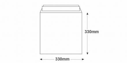 330 x 330mm - White Commercial Envelopes - 120gsm - Non Window - Peel & Seal - image 2