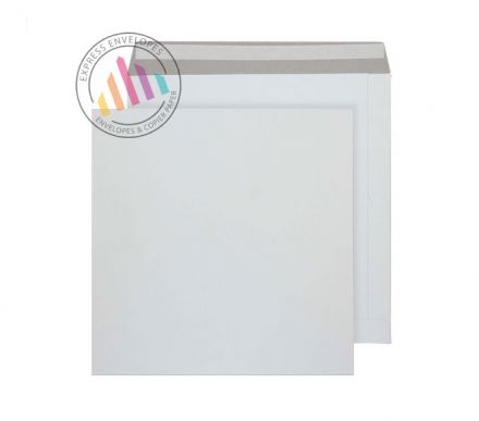 340 x 340mm - White All Board Envelopes - 350gsm - Peel and Seal