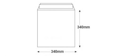 340 x 340mm - White All Board Envelopes - 350gsm - Peel and Seal - image 2