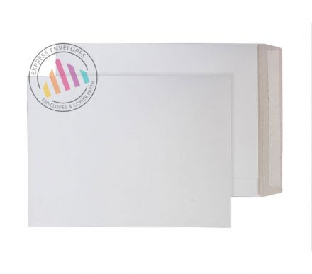 B4 - White Recycled All Board Envelopes - 350gsm - Peel & Seal