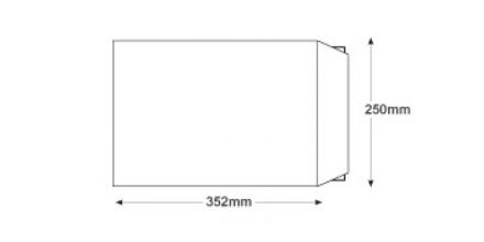 Recycled B4 - White All Board Envelopes - 350gsm - Non Window - Peel & Seal  - image 2