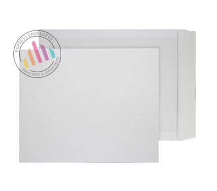 394x318mm - White Board Back Envelopes - 120gsm - Non Window - Peel and Seal