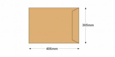 406 x 305mm - Manilla Commercial  Envelopes - 100gsm - Non Window - Self Seal - image 2